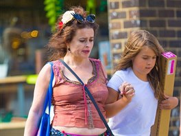 Helena Bonham Carter enjoys some quality time as she takes her daughter, Nell...