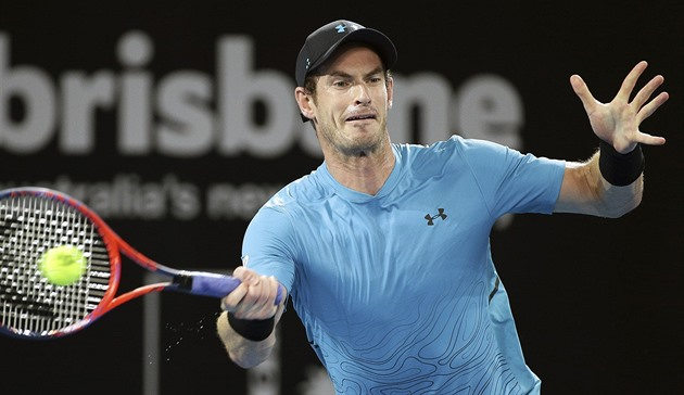 Andy Murray na turnaji v Brisbane.