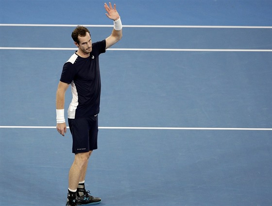 Loučící se Andy Murray.