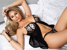 Czech-born Ester Dee showing off her curvaceous figure and looks stunning...