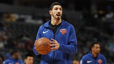 Enes Kanter na tréninku New York Knicks
