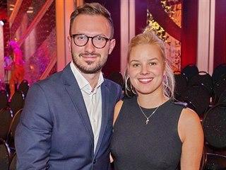 Patricie Solaříková se snoubencem Tiborem Pagáčem (2018)