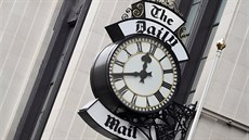 FILE PHOTO: A clock face is seen outside of the London offices of the Daily...