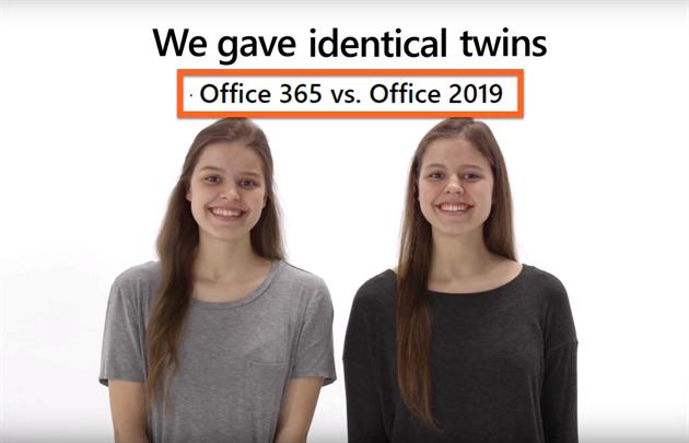 Nekupujte náš Office 2019, varuje Microsoft. Ukazuje to na dvojčatech