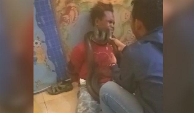 Černá dívka kořist video
