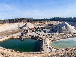 V pískovně Marokánka u Hradce Králové končí těžba (18. 2. 2019).