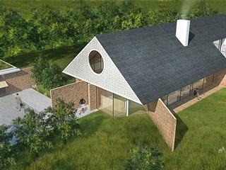 Dům pro čtyřčlennou rodinu navrhlo studio ODDO architects.