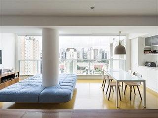 Byt stojí v centru Sao Paula, největšího a nejbohatšího města Brazílie.