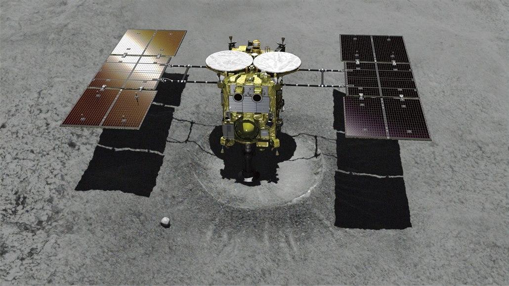 Hayabusa 2 úspěšně přistála na asteroidu a získala podzemní vzorky
