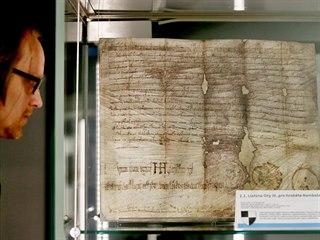 V Brně je k vidění kopie nejstarší dochované listiny na českém území z roku 994...