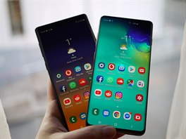 Samsung Galaxy S10+ a Note 9