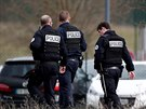 French police patrol outside the prison where an inmate in one of France's most...