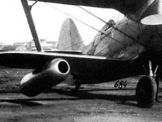 Polikarpov I-153 s přídavnými náporovými motory DM-4