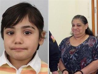 Pohřešovaná Valerie (vlevo) a její obviněná babička Soňa K. u soudu 4. 3. 2019