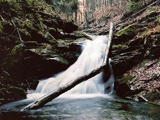 Vodopád pod Dlouhými stráněmi vJeseníkách