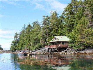 Soukromý ostrov Mertz Island na Aljašce je na prodej za 1,25 milionu dolarů, v...
