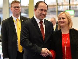 Nový předseda KDU-ČSL, poslanec Marek Výborný a nová první místopředsedkyně...