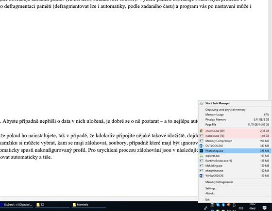 program pro psaní profilů