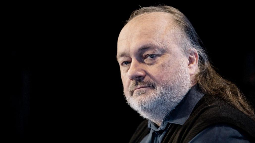 Hudebník a publicista Ladislav Jakl v diskusním pořadu Rozstřel. (2. dubna 2019)