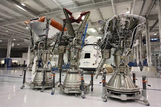 Raketové motory Merlin od SpaceX