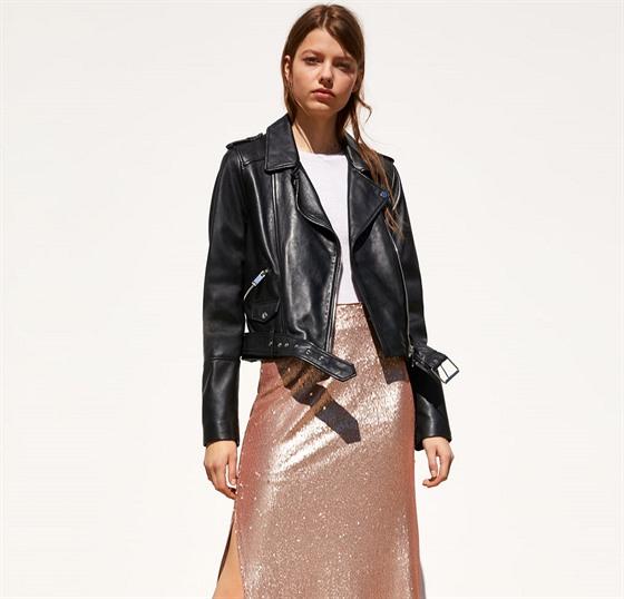 9ee7a2879 Pokud chcete být nepřehlédnutelná, kombinujte koženou bundu s metalickým  sukněmi. S obdobným outfitem zazáříte