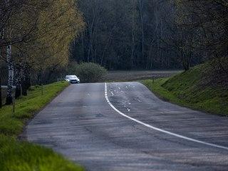 Nebezpečná část silnice mezi Letohradem a Ústím nad Orlicí.