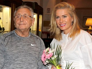 Jiří Menzel a Olga Menzelová (Výstava Václavák, 6. 11. 2017)