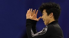 Nathan Chen  na World Team Trophy ve Fukuoce.