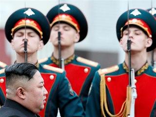 Severokorejský diktátor Kim Čong-un dorazil do Vladivostoku na východě Ruska....