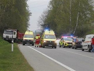 Při nehodě na silnici 602 z Jihlavy do Velkého Beranova, při které došlo ke...