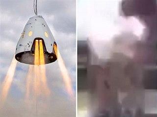 Elon Musk a vpravo záběr z jediného zatím dostupného neoficiálního videa, které...
