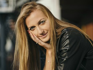 Petra Kvitová na jedné z fotografií pro Magazín DNES.