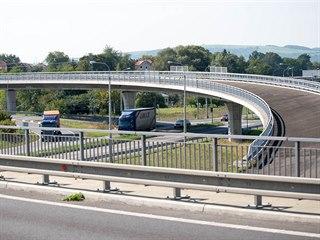 Severovýchodní část obchvatu Otrokovic je součástí dálnice D55.
