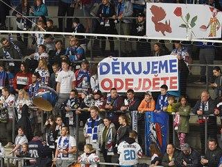 Fanoušci Chomutova a jejich vzkaz vedení klubu, majitelům Veverkovým.