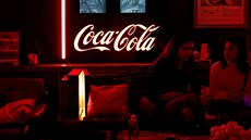 FILE PHOTO: A Coca-Cola logo is pictured during an event in Paris, France,...