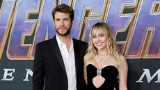 Liam Hemsworth a Miley Cyrusová (Los Angeles, 22. dubna 2019)