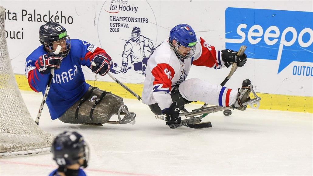 Parahokejisté vstoupili do mistrovství světa v Ostravě porážkou s Korejci