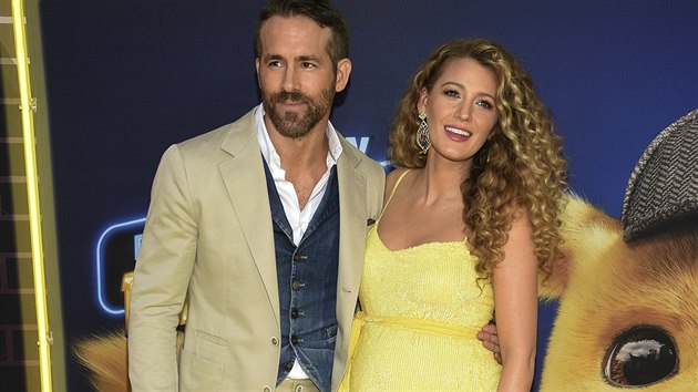 Ryan Reynolds a Blake Lively (New York, 2. května 2019)