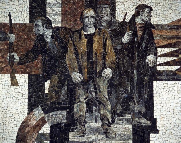 Mozaika Vítězný únor na Staroměstské