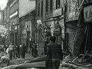 Náměstí vRoudnici nadLabem krátce poskončení náletu 9.května 1945.