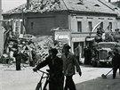 Okolí roudnického náměstí ponáletu 9.května 1945.