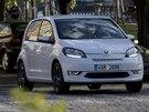 Elektromobil Škoda Citigo-e iV při natáčení v centru Prahy