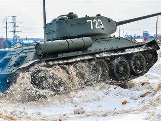 V lednu 2019 dorazilo z Laosu do Ruska třicet darovaných tanků T-34. Tanky se...