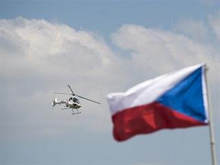 Stroj Guimbal Cabri na vrtulníkovém leteckém dni Helicopter Show, který se...