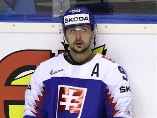 Slovenský hokejista Tomáš Tatar po porážce s Kanadou