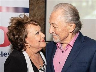 Jiřina Bohdalová a Karel Gott (13. května 2019)