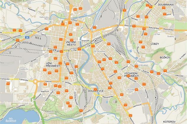 Tipy na weby: interaktivní mapa poštovních schránek či situace v dopravě