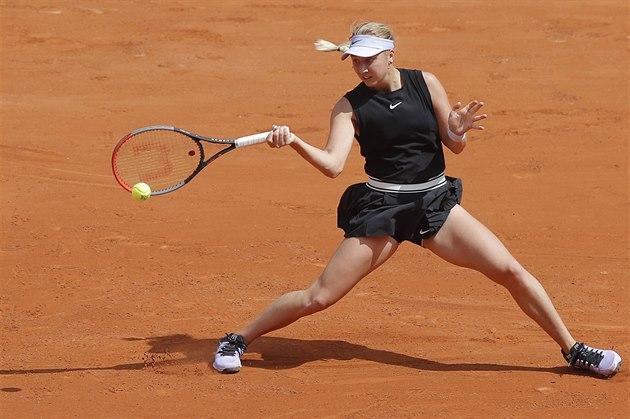 Tenistka Anastasia Potapovová v 1. kole Roland Garros.