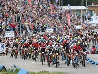 Světový pohár bikerů v Novém Městě na Moravě.