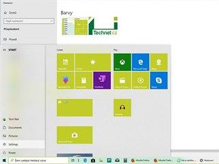 Světlý motiv v jarní verzi Windows 10  2019
